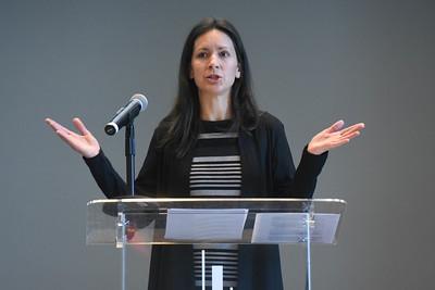 Dr. Lydia S. Dugdale speaks in Chapel