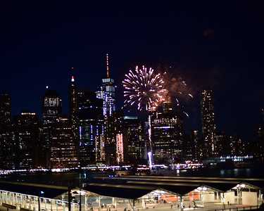 Fireworks over Manhattan