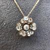 1.04ctw Victorian Rose Cut Diamond Pendant 8
