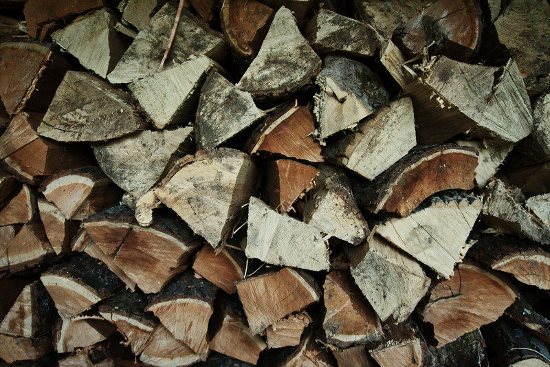 Stack of firewood ready for the winter