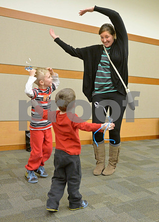 Elmhurst Public Library hosted an New Year's Eve Dance Party for families Saturday morning