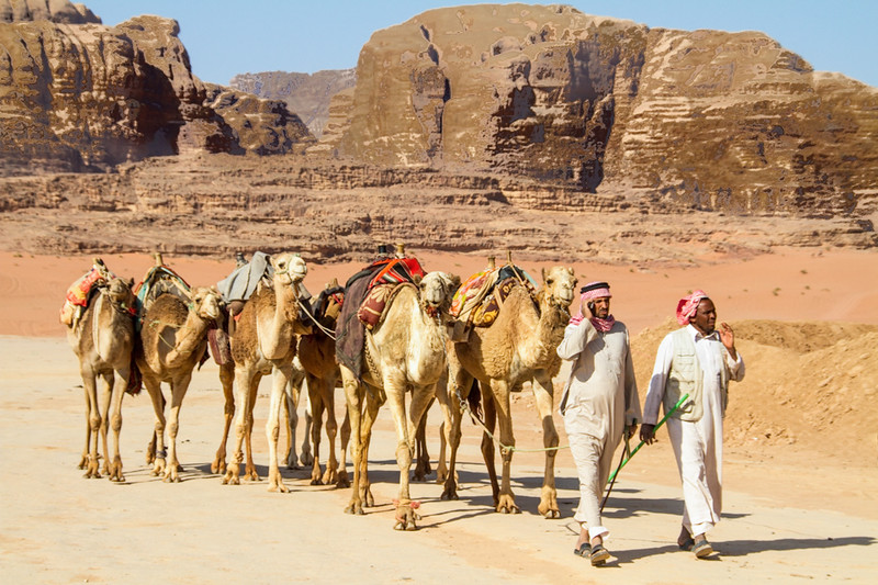 Explore Petra, Jordan, by camel for a bumpy ride.
