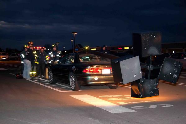 Light Pole vs Car in Shop Rite parking lot