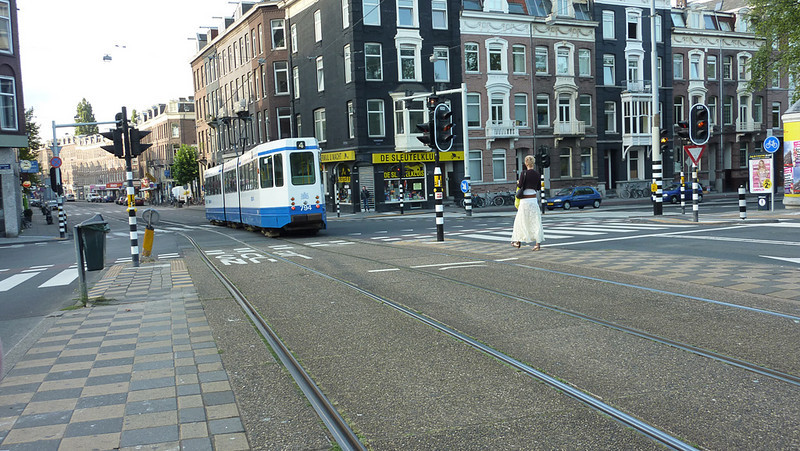 One of the trams. We used these to travel all over Amsterdam. Very convenient.  This one is will take us to Centraal Station for our trip to Belgium, and the second half of our vacation!