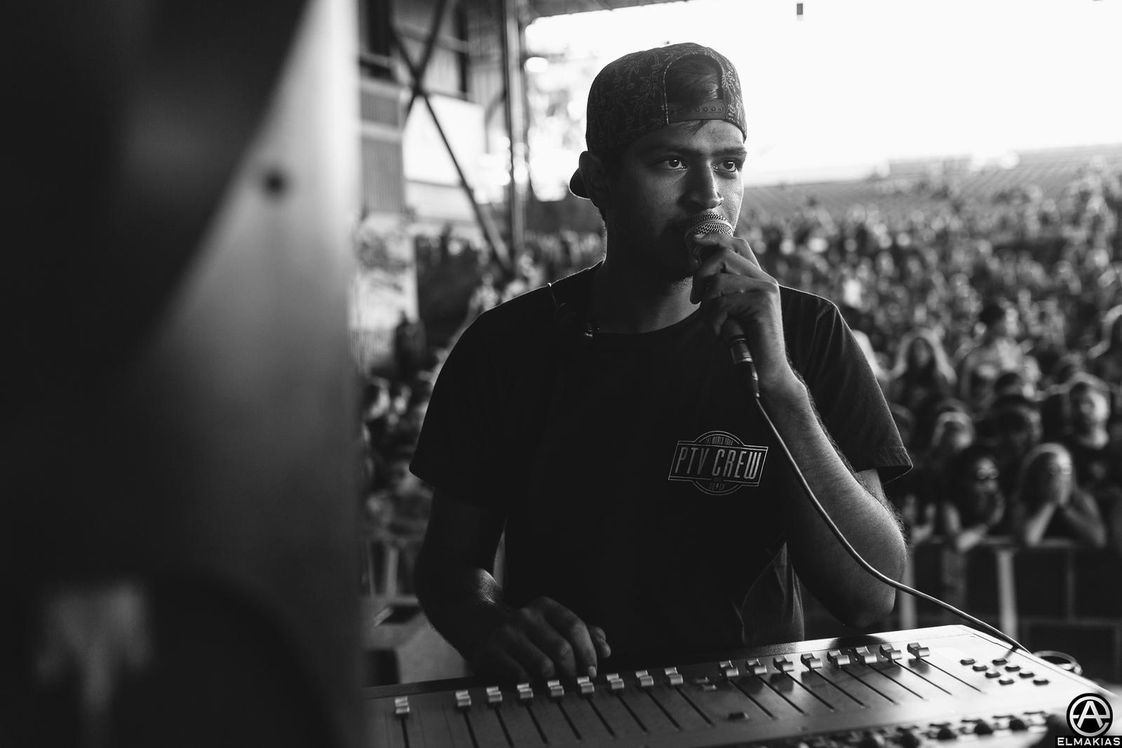 Matt, Pierce the Veil tour manager at Warped Tour 2015 by Adam Elmakias