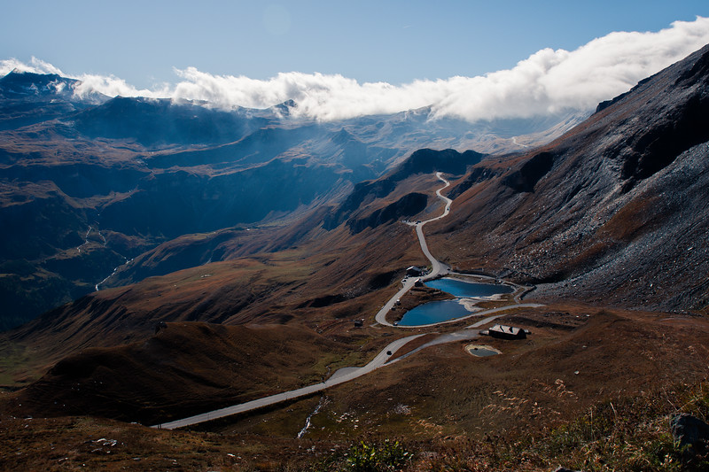 Grossglockner Pass from Austria to Italy, beautiful views