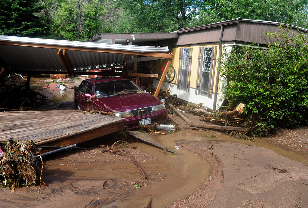 . Riverbend Mobile Home Park in Lyons Friday, Sept. 13, 2013. (Greg Lindstrom/Times-Call)