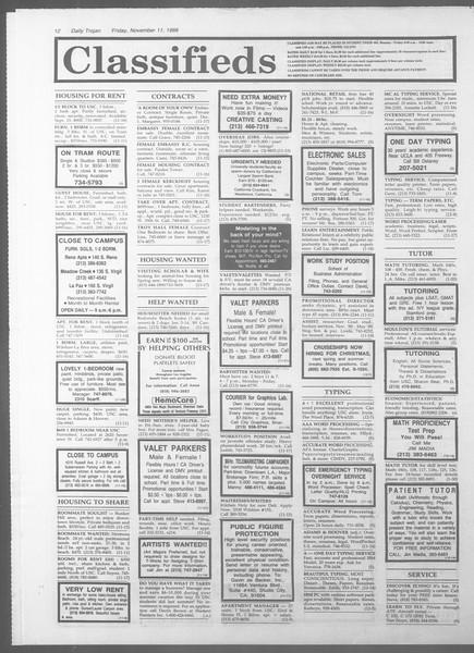 Daily Trojan, Vol. 107, No. 47, November 11, 1988