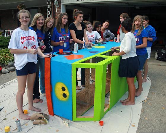 Katie homecoming float 2009