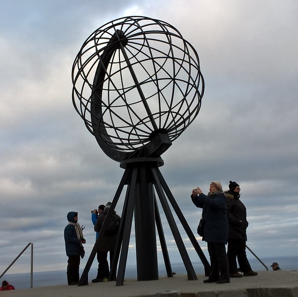 This is the photo op at the North Cape.