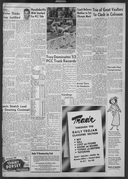 Daily Trojan, Vol. 43, No. 135, May 15, 1952