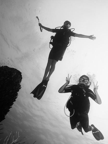 Belize Underwater People Photos