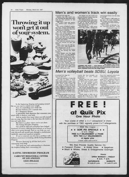 Daily Trojan, Vol. 103, No. 48, March 23, 1987