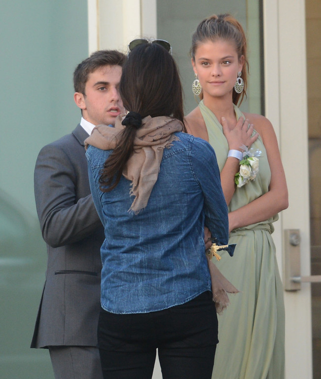 . Santa Monica, Calif., -- 05-23-13-  Jake Davidson,left, and Danish supermodel Nina Agdal,right, attend Jakes prom at The Annenberg Community Beach House in Santa Monica Thursday night.  Jake whose YouTube video asking Kate Upton to the prom got 2.6 million hits, Jake took Nina instead after Kate turned him down.      Stephen Carr/  Los Angeles Newspaper Group