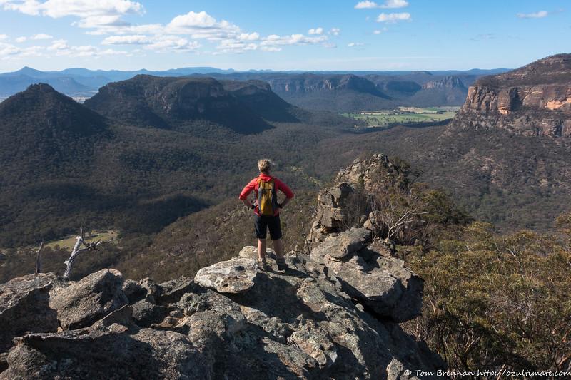 Rachel further along the ridge