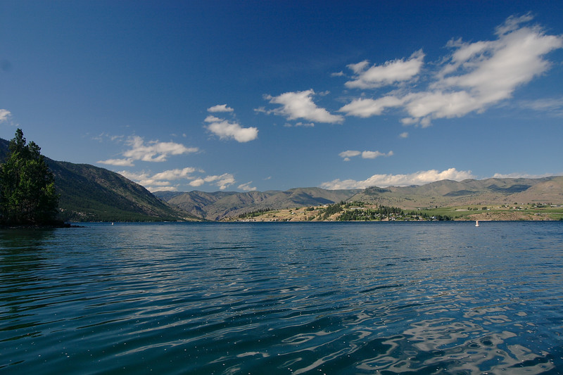 Chelan lake from beach park looking north...