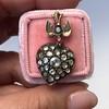 Victorian Revival Heart and Bird Rose Cut Diamond Pendant 4