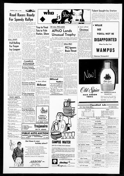 Daily Trojan, Vol. 48, No. 53, December 06, 1956
