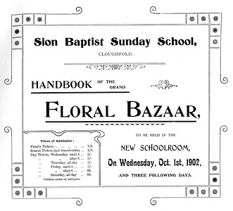 Cloughfold Sion Baptist Floral Bazaar, Oct. 1st, 1902