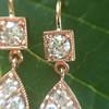 1.51ctw Diamond Mosaic OEC Dangle Earrings 16