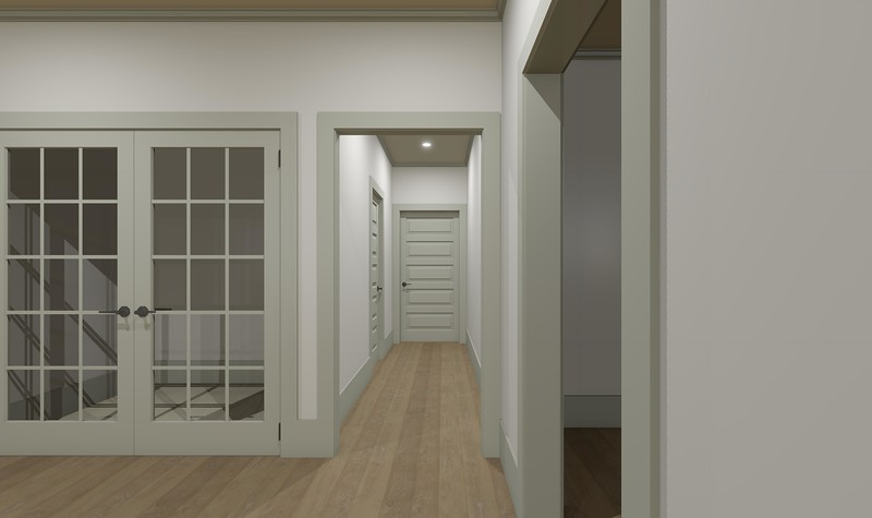 This is the proposed design for the rear hallway.