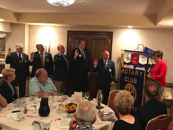 Newington Rotary Installation banquet New Officers 2018-19