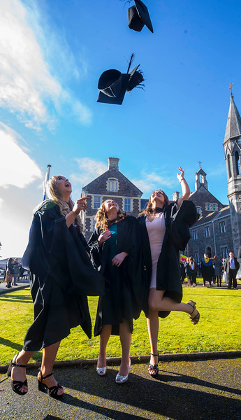 01/11/2018. Waterford Institute of Technology (WIT) Conferring Ceremonies 2018. Pictured are Orla Fahey Kildare, Laura Broderick Waterford, Megan Kelly Kilkenny. Picture: Patrick Browne