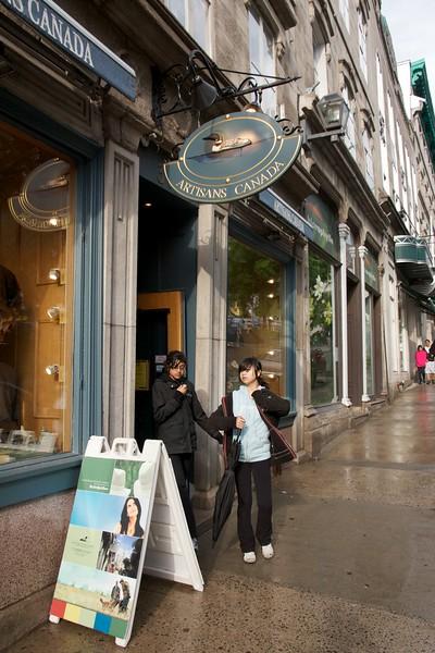 Shoppers. Artisans Canada. Quebec City, Canada.