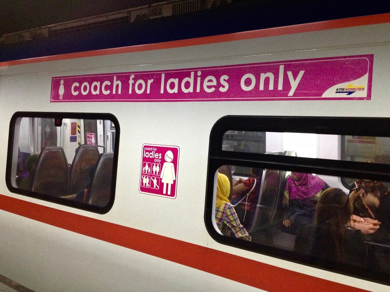 subway car for ladies in Malaysia