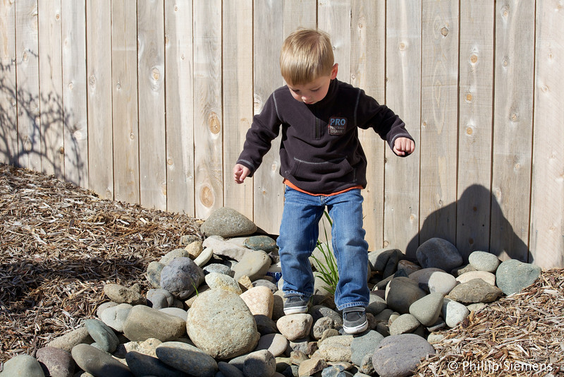Practicing rock hopping