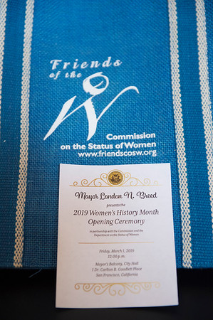 2019 Women's History Month Kick-Off By Mayor London N. Breed | March 1