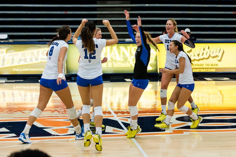 UCLA Women's Volleyball vs. Cal State Fullerton @ Titan Gym, Cal State Fullerton