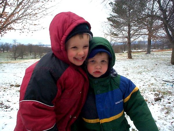 Jordan & Blake - first snow.jpg