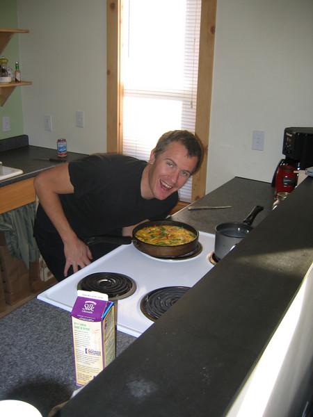 Yummy Josh Quick scramble! The cure for Saturday morning.