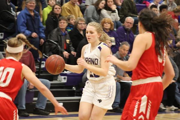 Durand girls' hoops vs. Colfax, Feb. 8th, 2019