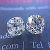 3.05tcw Antique Cushion Cut Diamond Pair, GIA J, VS2/SI1 13
