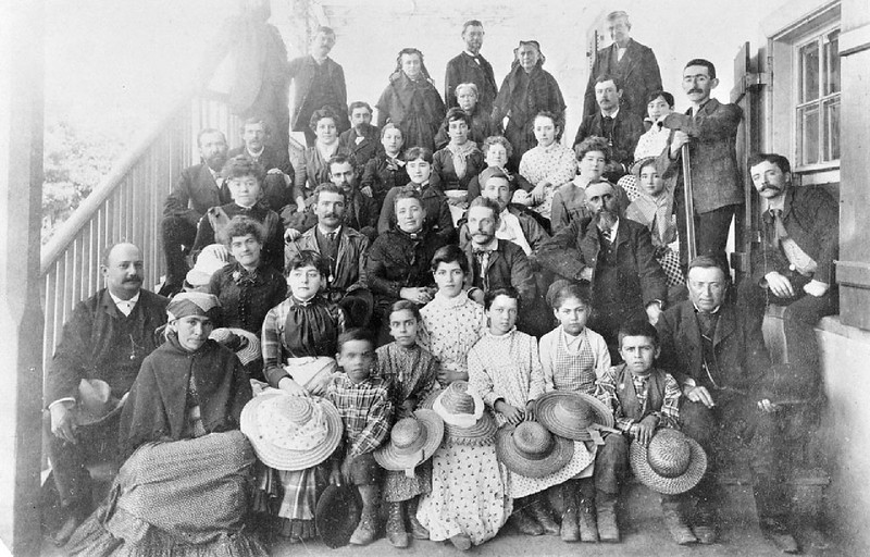 Portrait of the Del Valle family, Rancho Camulos, Ventura, ca.1888
