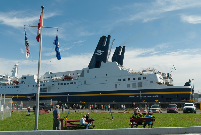 Cruise ship at Gros Morne National Park, Newfoundland, Canada