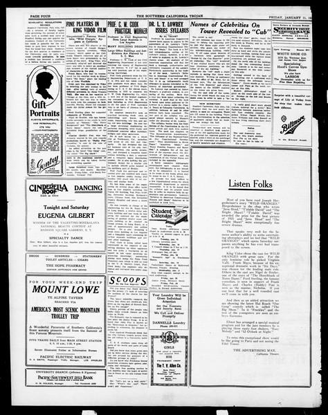 The Southern California Trojan, Vol. 15, No. 40, January 11, 1924