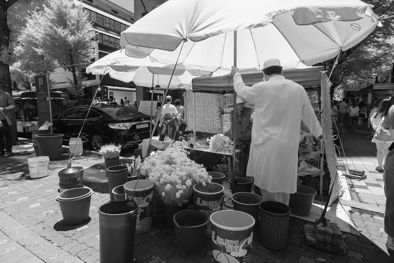 Street vendor in Seoul.