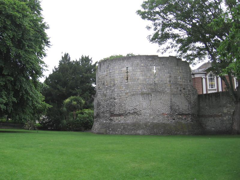The Multiangular Tower, a corner of the original Roman walls, York