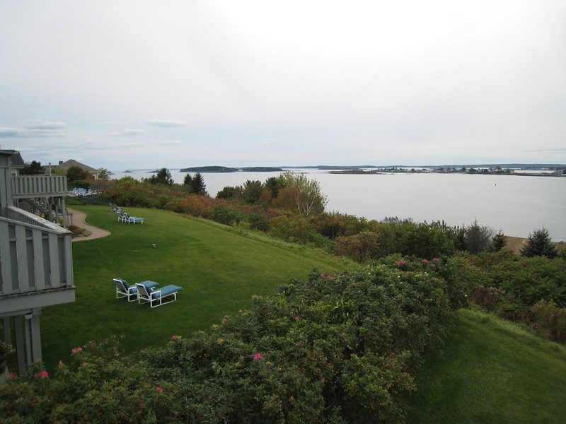 View from our balcony at Log Cabin Island Inn - Bailey Island, Maine