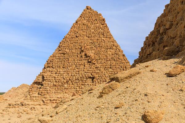 Pyramiden des kuschitischen Königs Aspelta (580 v. Chr., Nu 8) - Nuri, Sudan