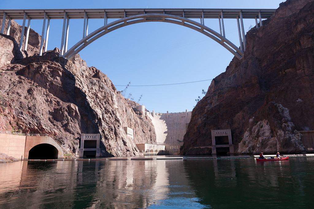 Kayak or canoe put in below Hoover Dam