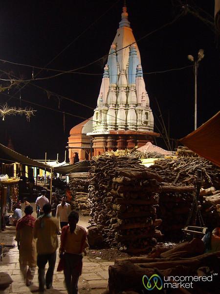Nightime Along the Burning Ghats in Varanasi, India