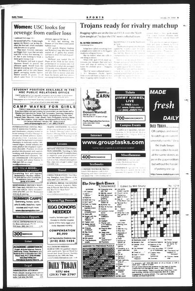 Daily Trojan, Vol. 151, No. 11, January 29, 2004