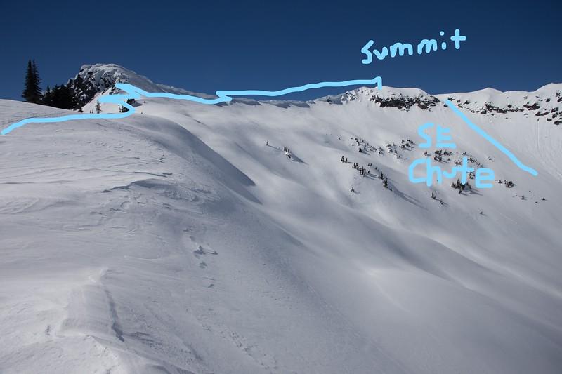 Rock Mountain skintrack to summit.