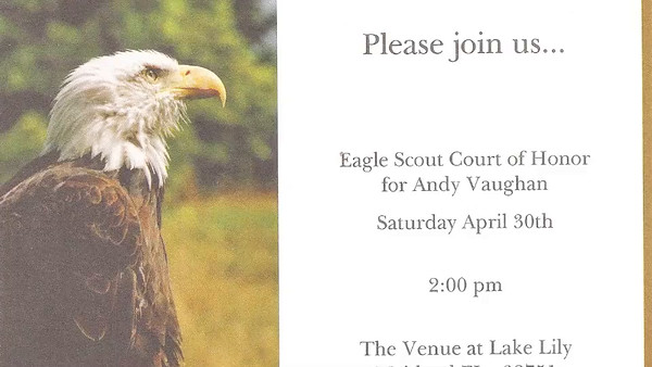 Andy's Eagle Scout Ceremony