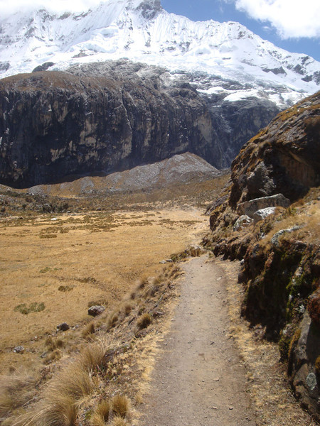 Rounding a bend, and entering the massive alpine meadow.