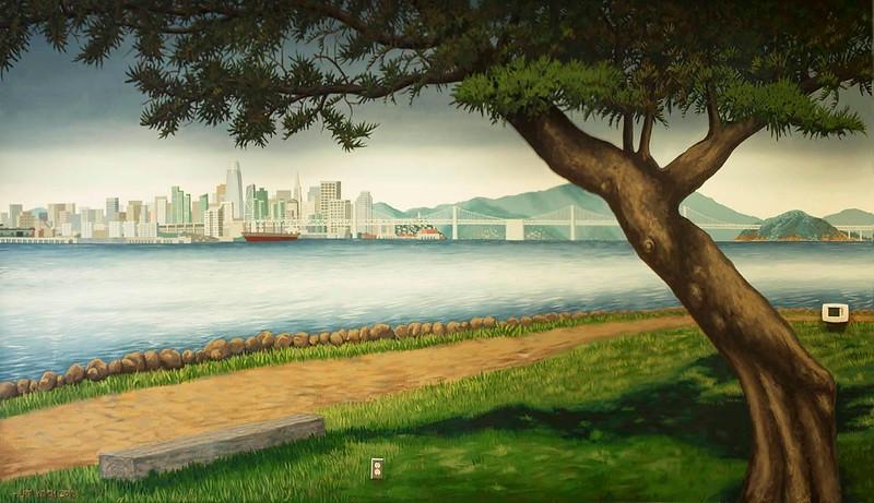 Harbor Bay Isle Community Mural by Art Koch